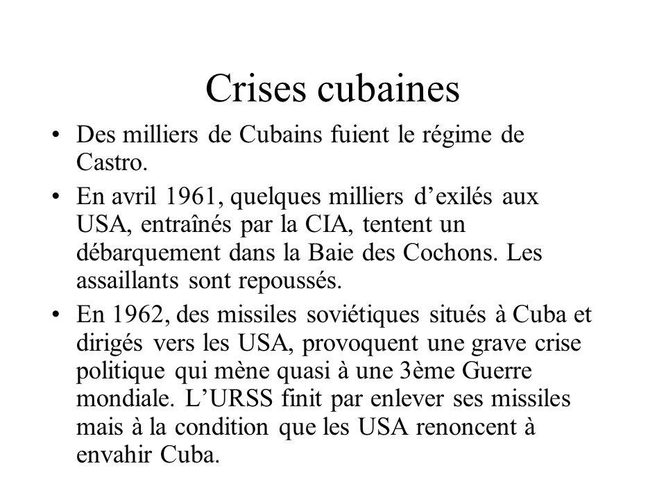 La révolution cubaine (2) Le 1er janvier 1959, Batista fuit en exil. Castro prend le pouvoir, place son frère Raoul et Guevara aux postes importants e