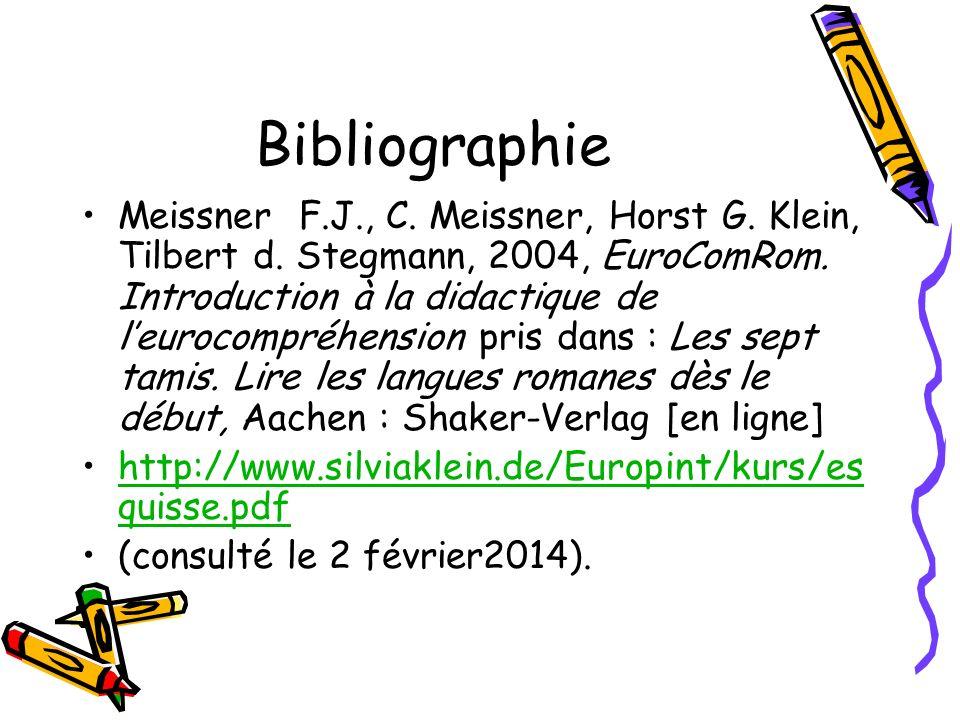Bibliographie Meissner F.J., C. Meissner, Horst G.