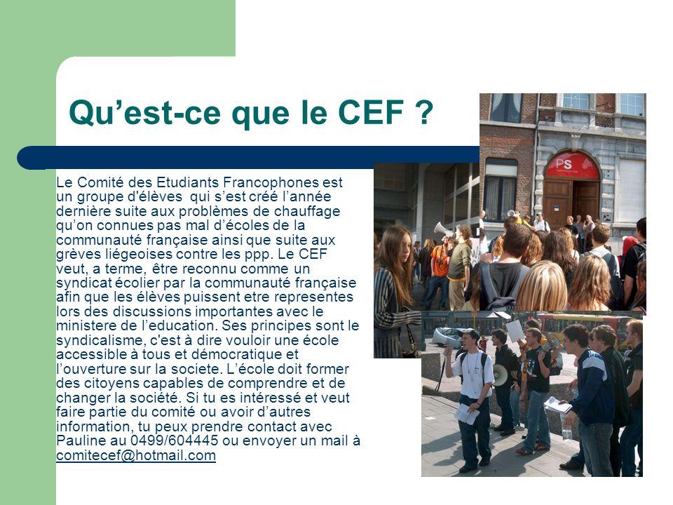 Quest-ce que le CEF .