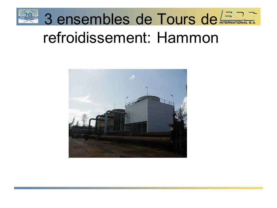 3 ensembles de Tours de refroidissement: Hammon