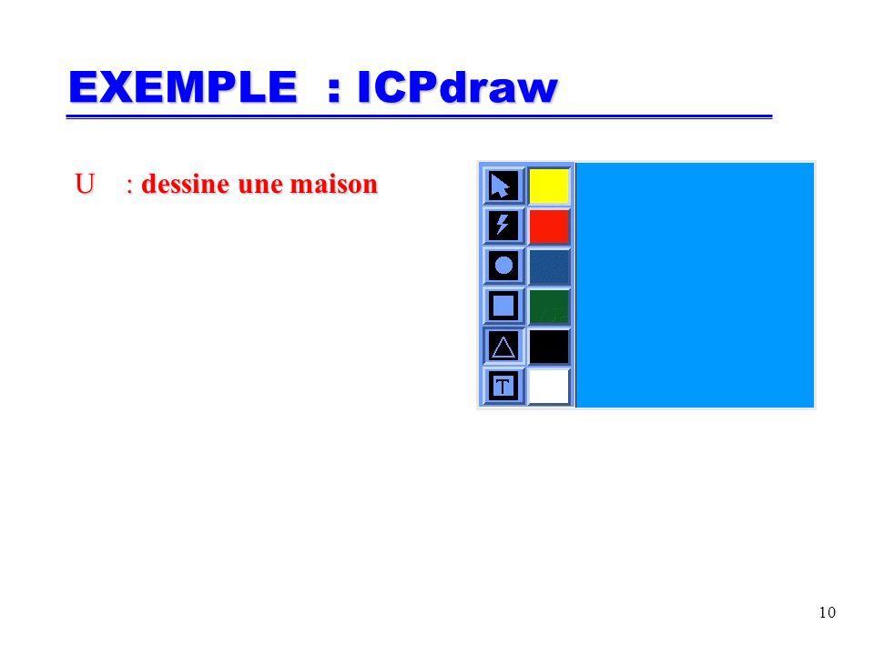 10 U: dessine une maison U: dessine une maison EXEMPLE : ICPdraw