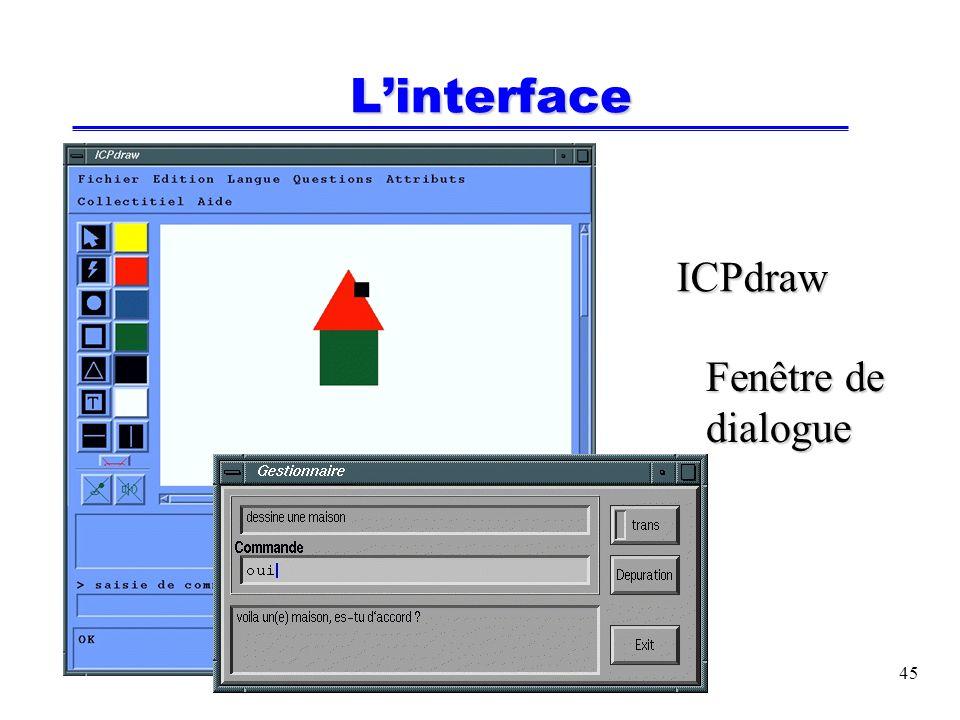 45 Linterface ICPdraw Fenêtre de dialogue