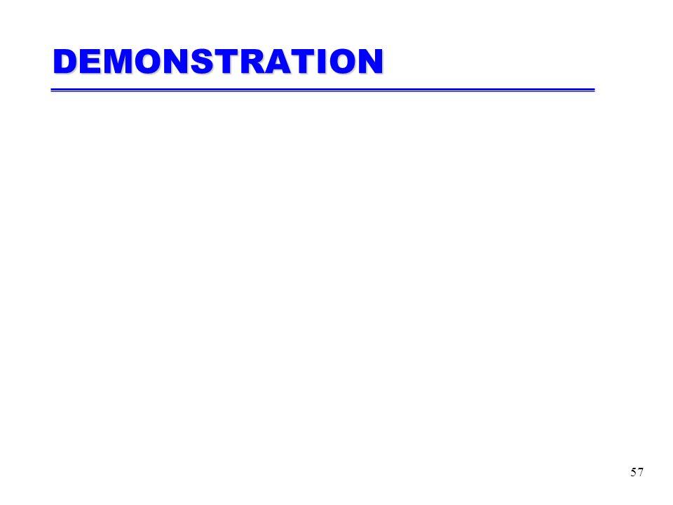 57 DEMONSTRATION