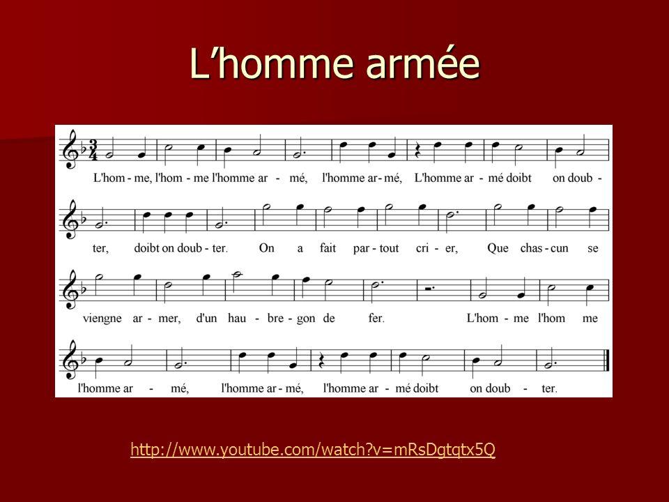 Lhomme armée http://www.youtube.com/watch?v=mRsDgtqtx5Q