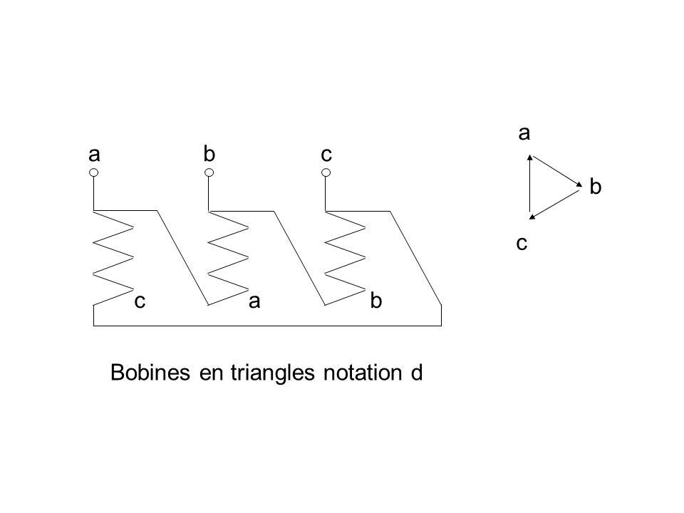 a a b b b c c c a Bobines en triangles notation d