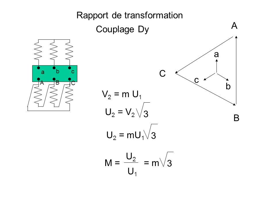 Rapport de transformation Nous continuons à poser m = N2N2 N1N1 Nous appelons M = U2U2 U1U1 le rapport de transformation