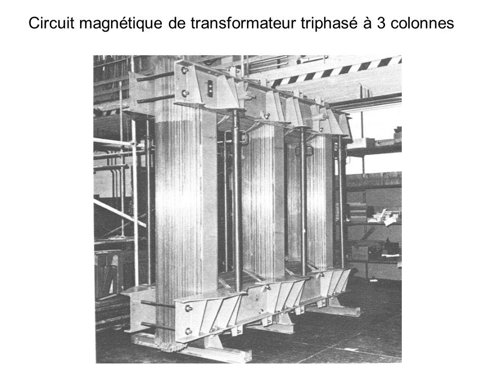Un transformateur comprend : un circuit magnétique fermé, feuilleté deux enroulements : le primaire comportant n1 spires le secondaire comportant n2 spires V1 I1 V2 I2