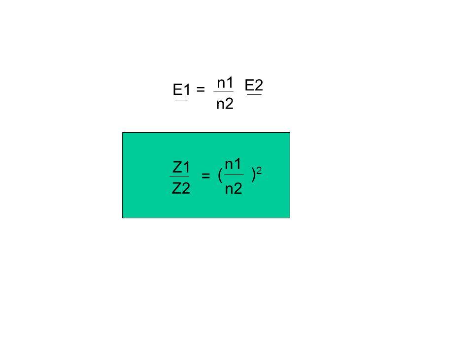 V1 I1 V2 I2 Z2 E2 + n1 n2 V2 = E2 + Z2 I2 n1 V1 = n1 n2 (E2 + Z2 n2 I1) à identifier avec V1 = n1 n2 n1 n2 E2 + ( ) 2 Z2 I1 V1 = E1 + Z1 I1