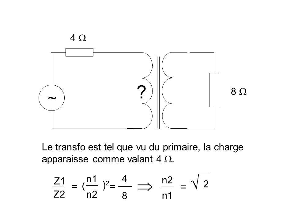 Cette propriété est utilisée en électronique pour réaliser des adaptateurs d impédance.