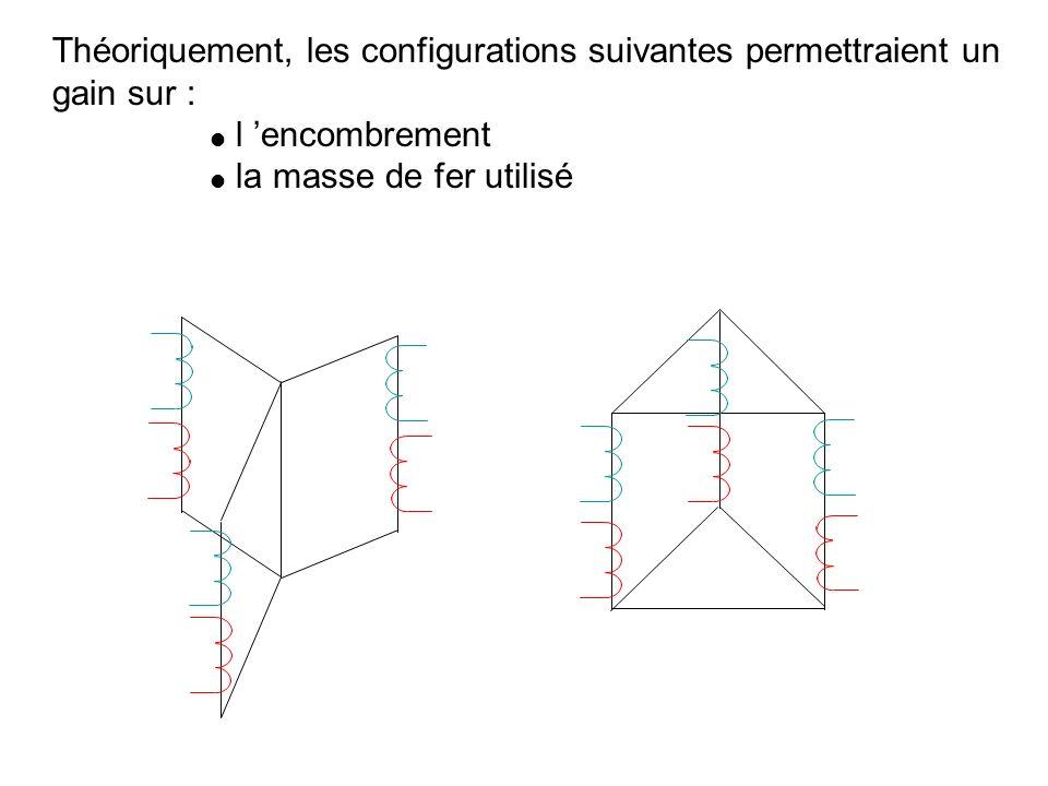 Il serait possible d utiliser 3 tranfos monophasés identiques Primaire en triangle primaire secondaire