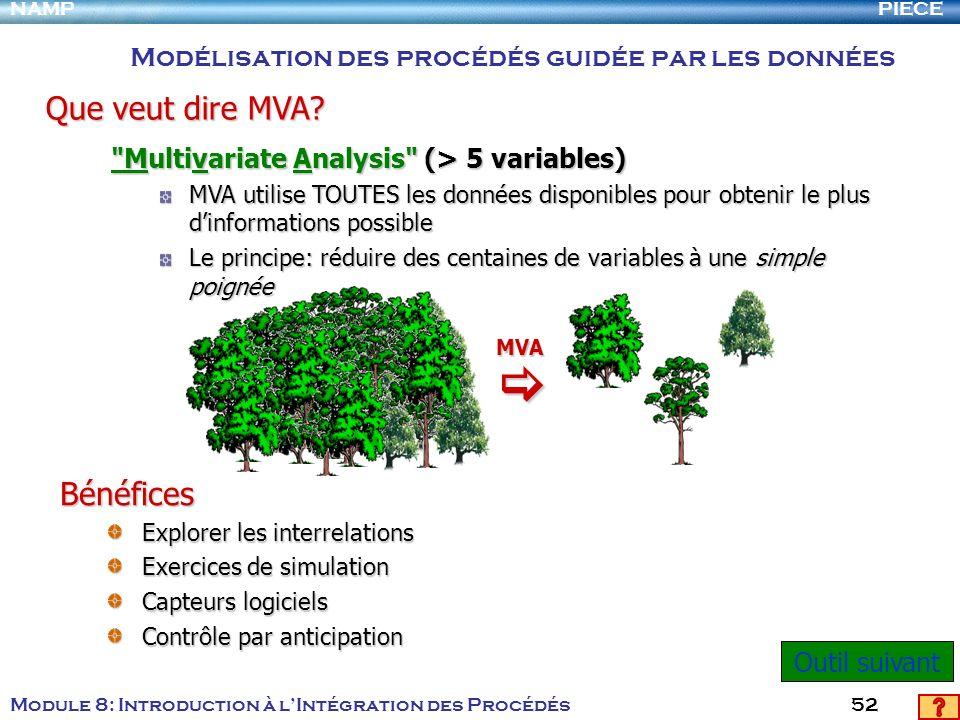 PIECENAMP Module 8: Introduction à lIntégration des Procédés 52
