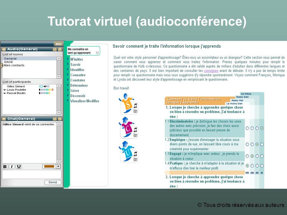 Tutorat virtuel (audioconférence) © Tous droits réservés aux auteurs