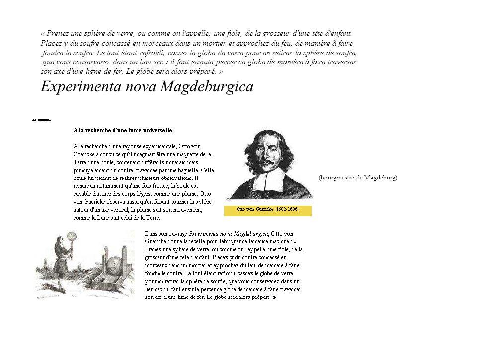 « Le baiser électrique » De la spectacularisation à la science institutionnelle : –Les hémisphères de Magdeburg (1657) –Les expériences de labbé Nollet qui contribuèrent beaucoup à démocratiser la science au XVII°S.