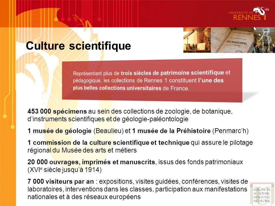 453 000 spécimens au sein des collections de zoologie, de botanique, dinstruments scientifiques et de géologie-paléontologie 1 musée de géologie (Beau
