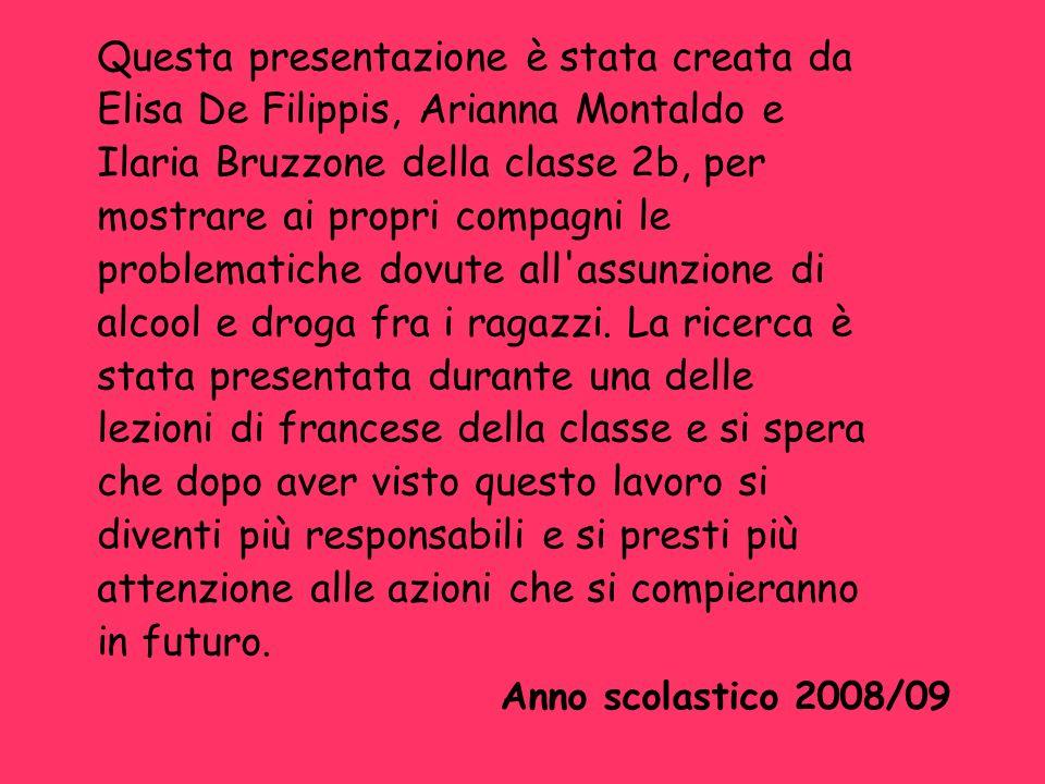 Questa presentazione è stata creata da Elisa De Filippis, Arianna Montaldo e Ilaria Bruzzone della classe 2b, per mostrare ai propri compagni le probl