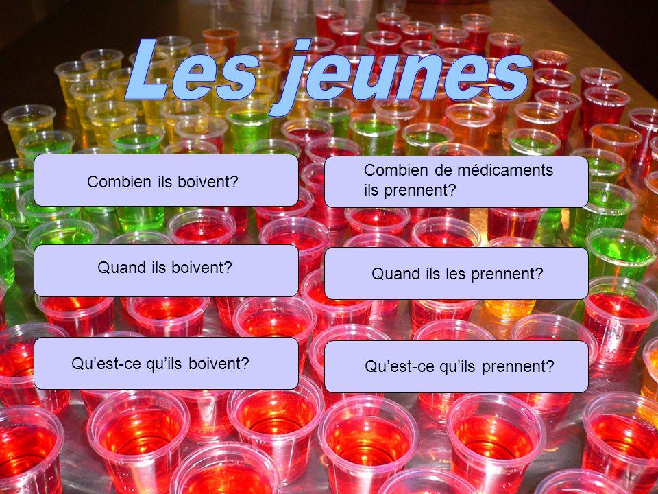 L alcool Les jeunes boivent beaucoup quand ils sont avec leurs amis, habituellement pour témoigner quelques chose.
