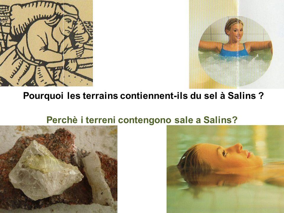 Affleurement de gypse Affioramento di gesso Galerie dexportation de sel Galleria di esportazione del sale