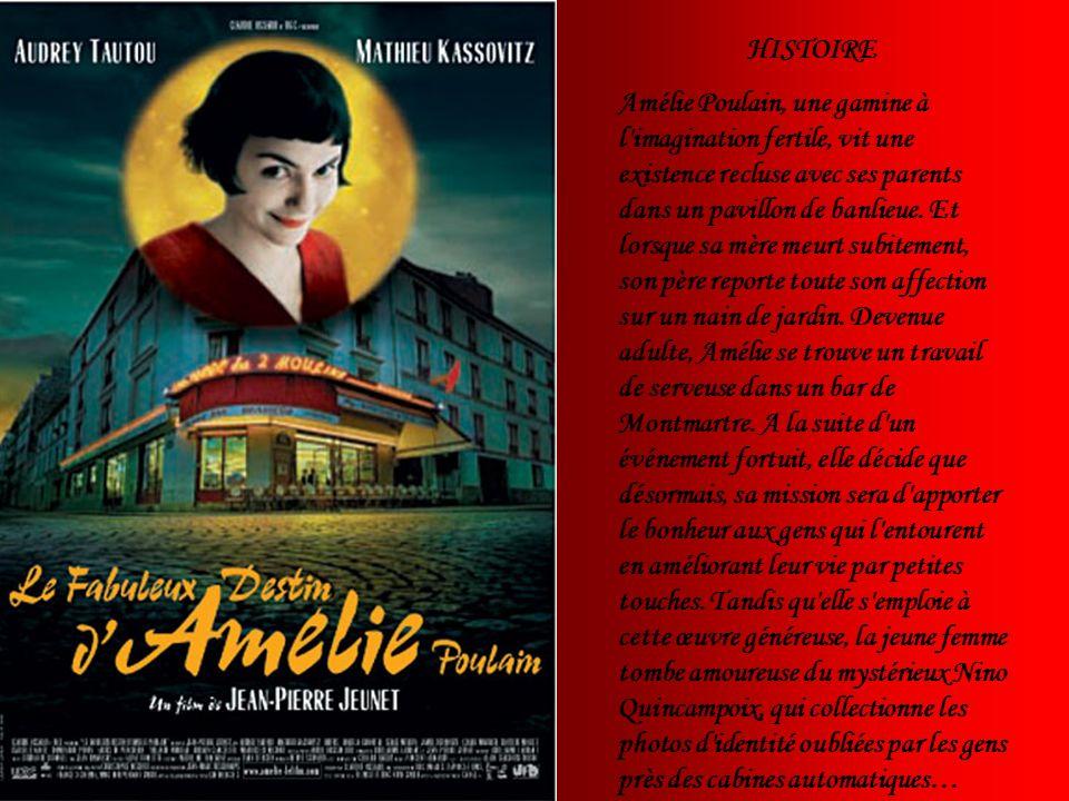 HISTOIRE Amélie Poulain, une gamine à l'imagination fertile, vit une existence recluse avec ses parents dans un pavillon de banlieue. Et lorsque sa mè