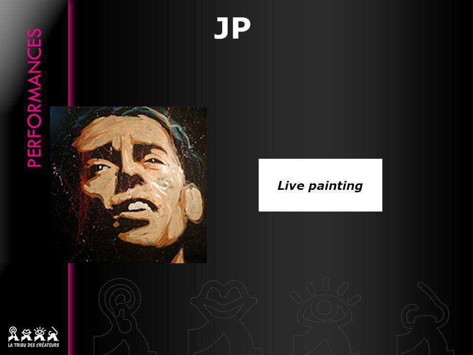 LIVE PAINTING « Limportant est lémotion contenue dans lœuvre: lorsquon regarde un portrait, il doit vous parler » Portraits de stars reconnues ou de stars dun jour, mis en scène sur un support musical adapté Durée: de 3 à 5 min