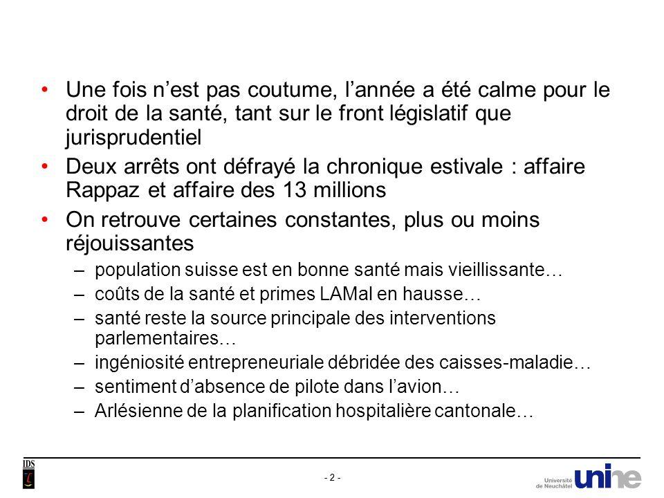 - 3 - Thèmes abordés 1)Droit international et constitutionnel a) Protocole additionnel à la Convention dOviedo sur la transplantation b) Art.