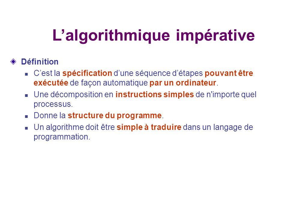 Conception de l algorithme: Avant de faire cette conception, écrivons d une façon très schématique une solution à ce problème.