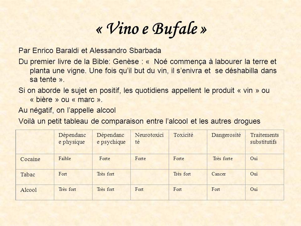 « Vino e Bufale » Par Enrico Baraldi et Alessandro Sbarbada Du premier livre de la Bible: Genèse : « Noé commença à labourer la terre et planta une vi