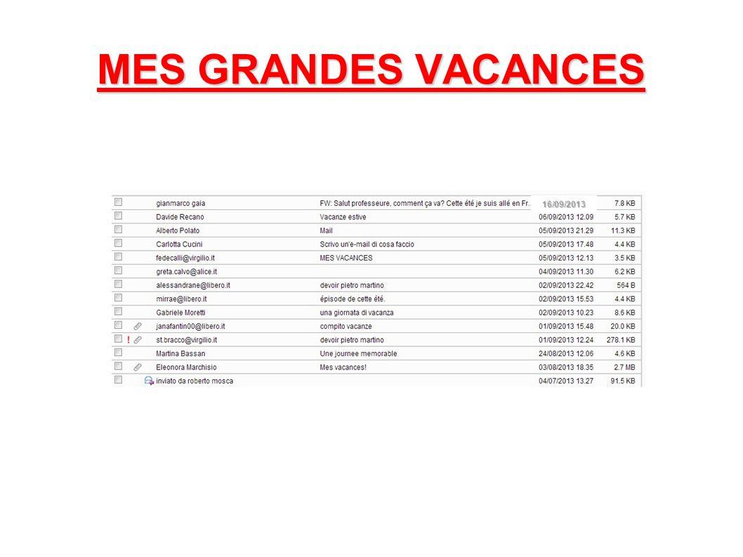 MES GRANDES VACANCES 16/09/2013
