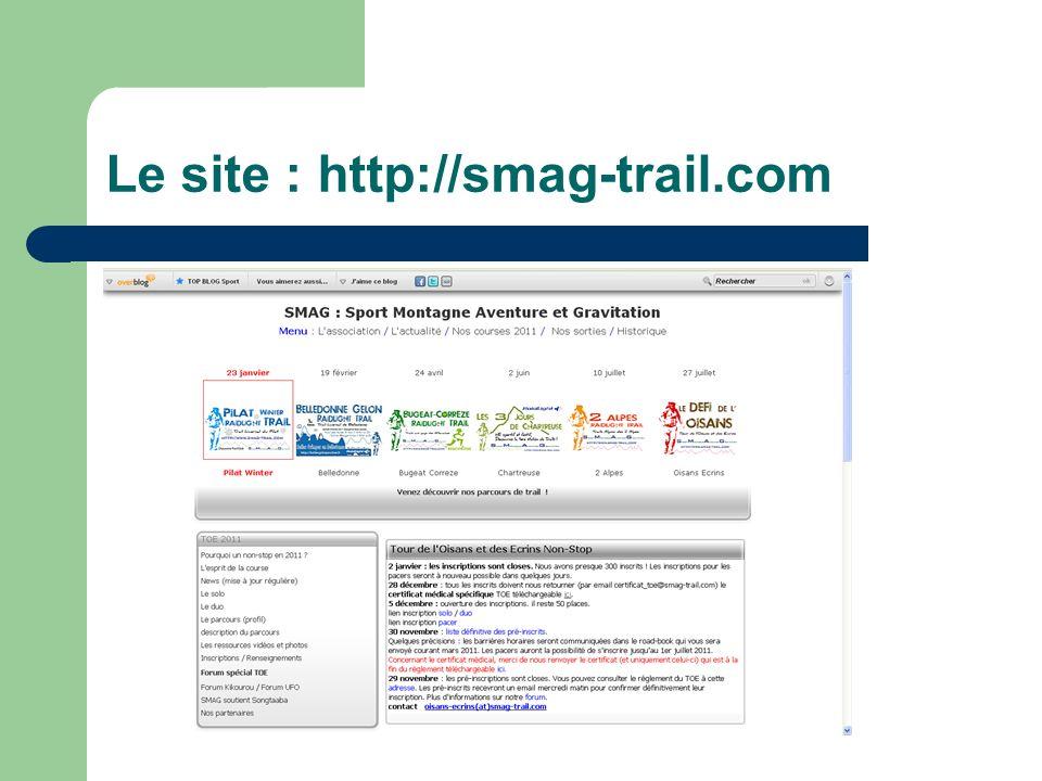 Le site : http://smag-trail.com
