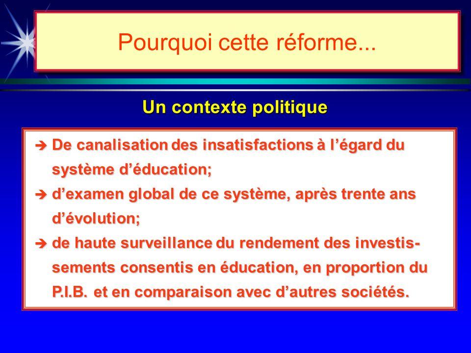 Un contexte social Pourquoi cette réforme... De redécouverte de limportance des savoirs qui sont devenus la matière première et le premier facteur de