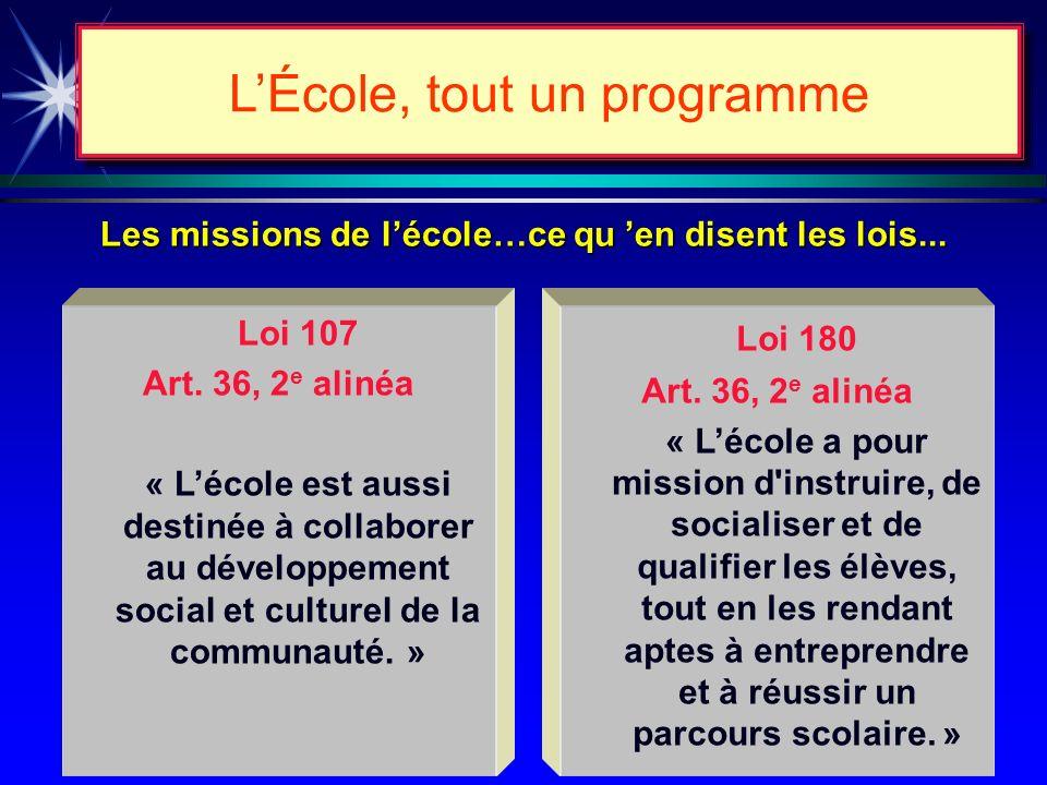 Juin 1997 Rapport Inchauspé Novembre 1997 LÉcole, tout un programme La ministre a recon- duit en presque totalité le rapport Inchauspé.