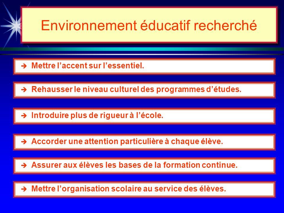 Les changements au curriculum 1 11 1