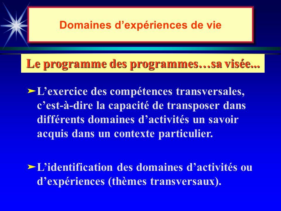 Les programmes seront... äautorisés pour expérimentation et modification pendant deux ans; ( 1re année : appropriation; 2e année : application) äappro