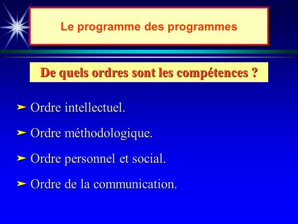 Le Programme des programmes...