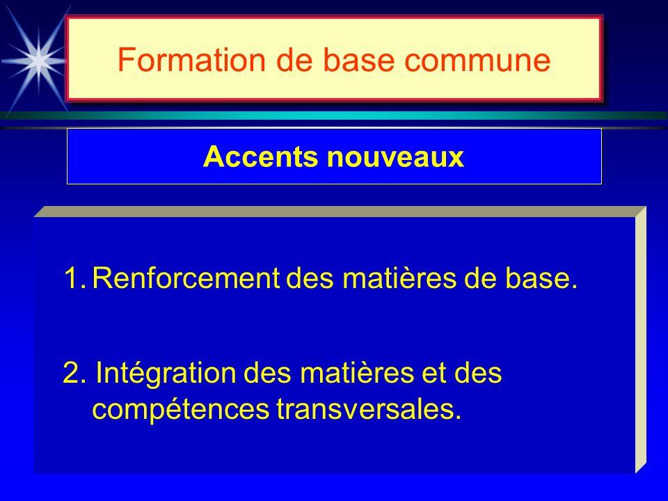 Formation de base commune 3 cycles denseignement ~ Raisons Évaluation préventive pour appliquer des mesures daide contrant le redoublement. Possibilit