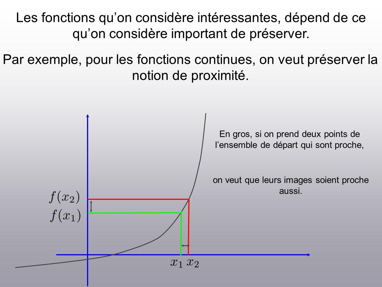 Les fonctions quon considère intéressantes, dépend de ce quon considère important de préserver.