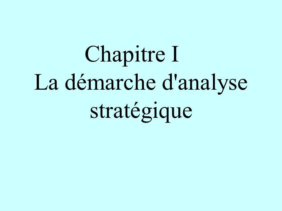 Chapitre I La démarche d'analyse stratégique