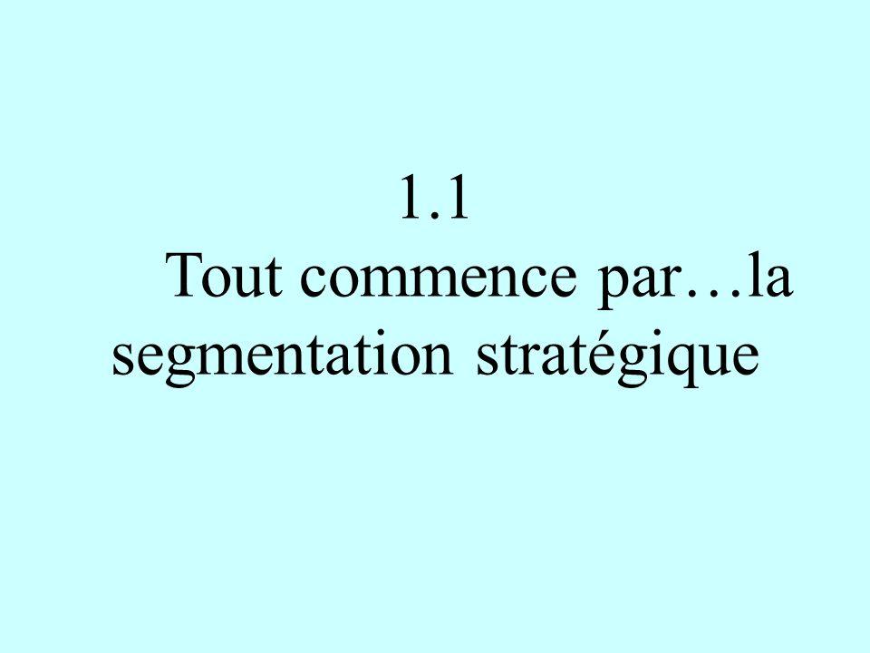 1.1 Tout commence par…la segmentation stratégique