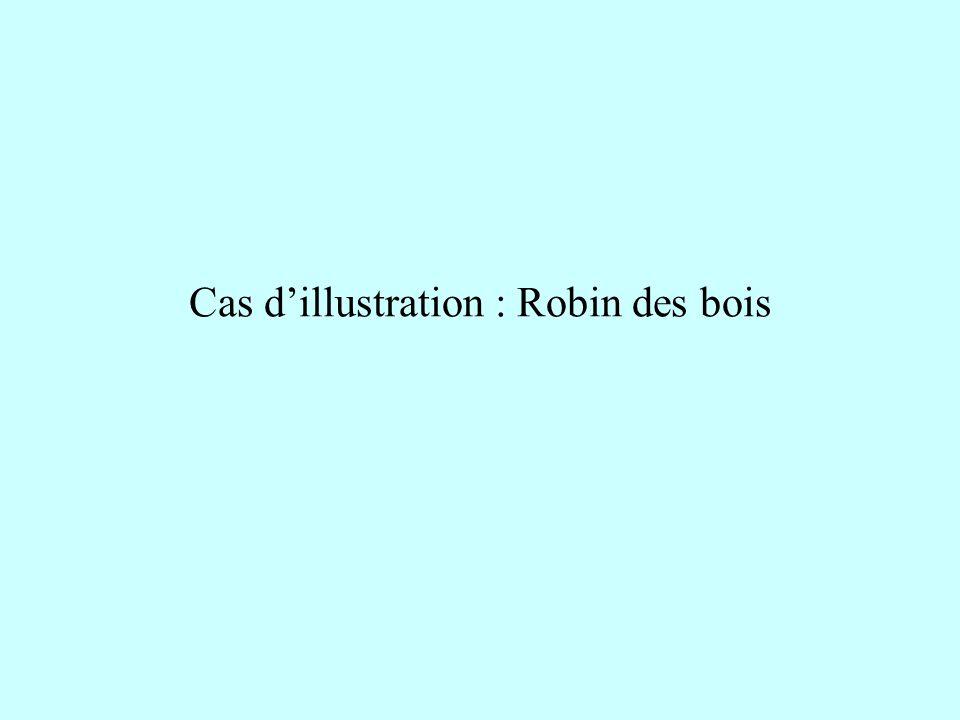 Cas dillustration : Robin des bois
