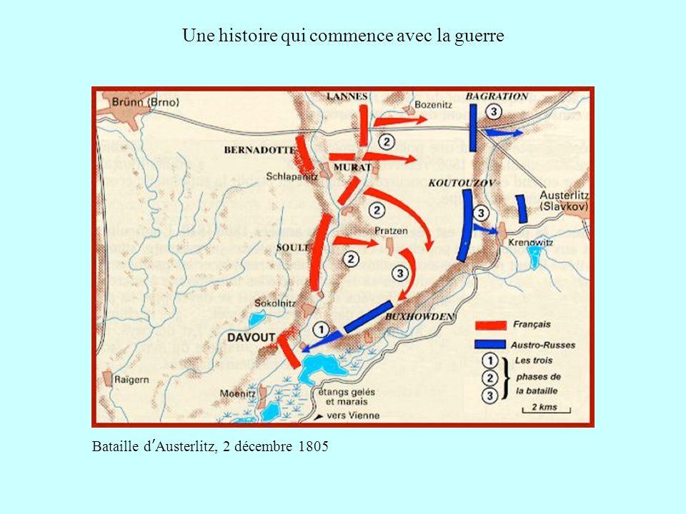 Une histoire qui commence avec la guerre Bataille dAusterlitz, 2 décembre 1805