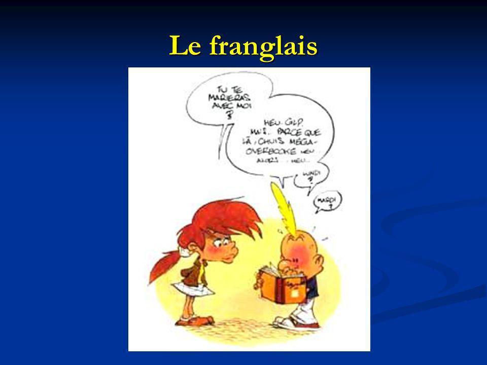 Le franglais