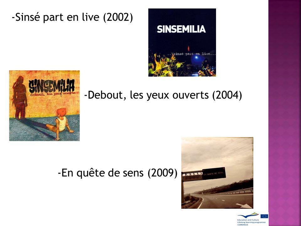 RÉCOMPENSES CHANSONS À SUCCÈS Après le succès de son dernier album et son single Tout le bonheur du monde Sinsemilia, que l attitude socialement engagé, a permis au reggae français.