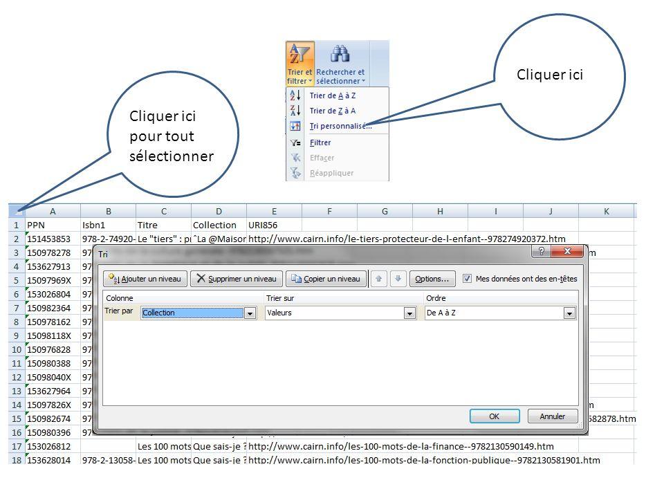 Les livres électroniques Renommer le fichier.csv en.txt Clic droit de la souris