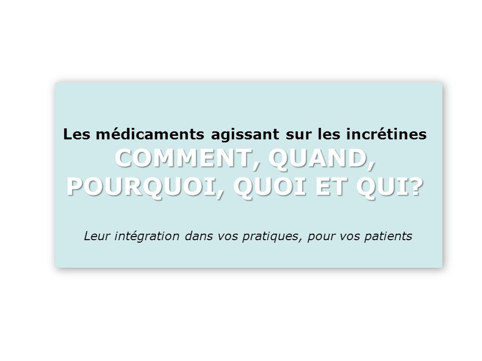 Quelle est donc la place des médicaments agissant sur les incrétines dans VOS pratiques.