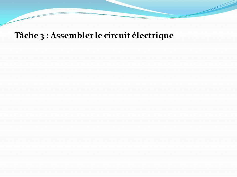 Tâche 3 : Assembler le circuit électrique