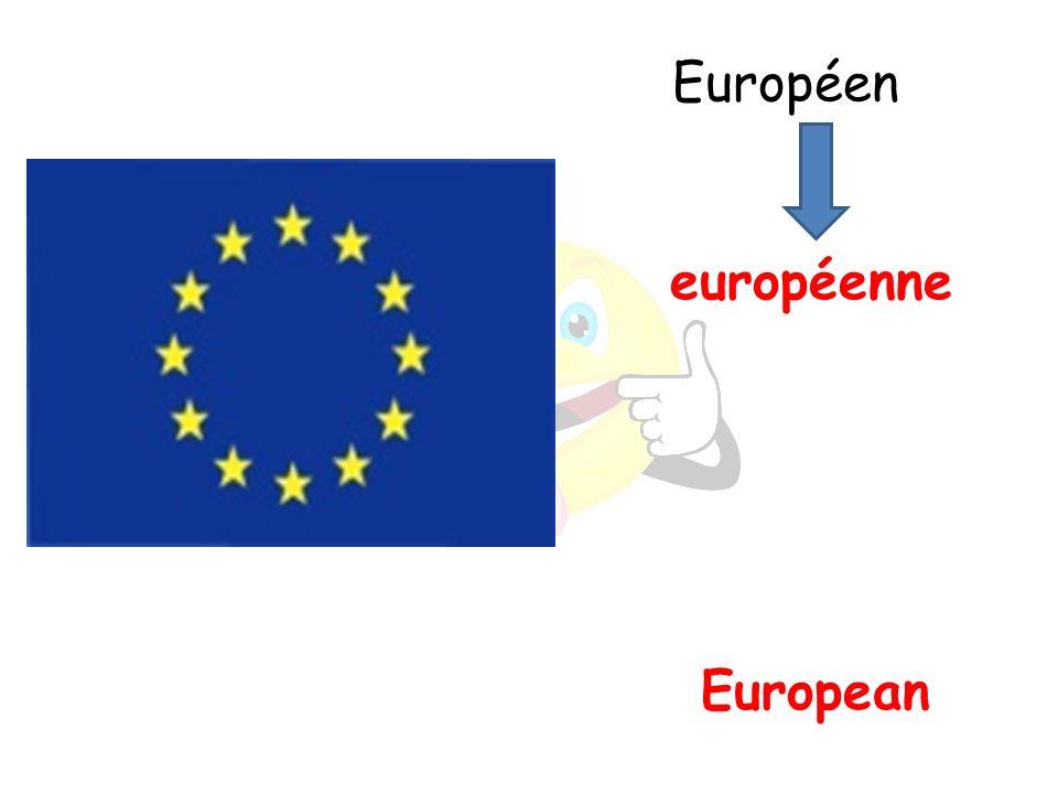 European européenne Européen