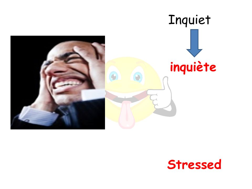 Stressed inquiète Inquiet