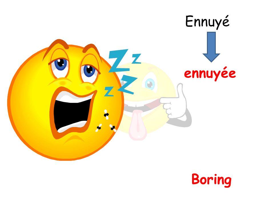 Boring ennuyée Ennuyé