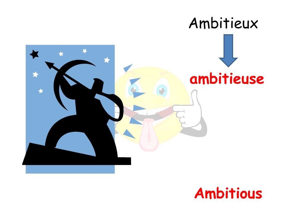 Ambitious ambitieuse Ambitieux
