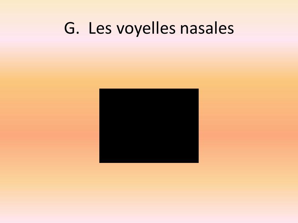 H.La transcription phonétique 1.[kɔmɑ̃] 2.[muvmɑ̃] 3.[sɔrtir] 4.[otɔmɔbil] 5.[syr] 6.