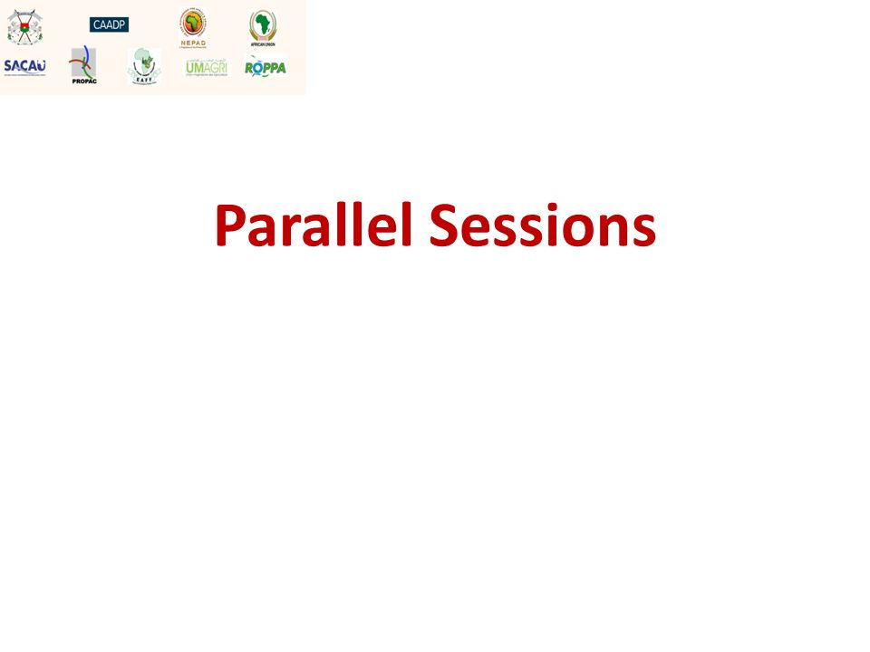 Terms of reference In your parallel session, for each presentation: Each presentation should be about 10 minutes Allow 15 minutes for discussion and 5 minutes for wrap up Designate a rapporteur
